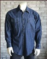B Rockmount Ranch Wear Men's Western Shirt: Denim Quarter Horse Backorder