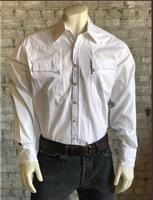 Rockmount Ranch Wear Men's Western Shirt: Quarter Horse Pockets White