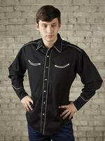Rockmount Ranch Wear Men's Vintage Western Shirt: Retro Classic Solid Black Backordered
