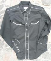 ZSold Rockmount Ranch Wear Men's Vintage Western Shirt: Retro Classic Solid Black SLIM 14.5-17.5 SOLD