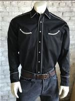 Rockmount Ranch Wear Men's Vintage Western Shirt: Retro Classic Solid Black