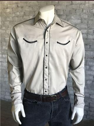Rockmount Ranch Wear Men's Vintage Western Shirt: Retro Classic Solid Putty S-XL