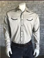 Rockmount Ranch Wear Men's Vintage Western Shirt: Retro Classic Solid Putty 2XL