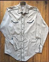 Rockmount Ranch Wear Men's Vintage Western Shirt: Retro Classic Solid Putty S-2XL