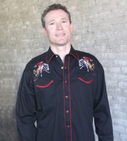 Rockmount Ranch Wear Men's Vintage Western Shirt: Rockmount Bronc Black