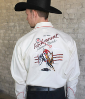 B Rockmount Ranch Wear Men's Vintage Western Shirt: Rockmount Bronc Ivory 2X Backordered