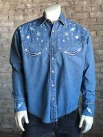 Rockmount Ranch Wear Men's Vintage Western Shirt: Planet Western Denim 2X