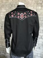 Rockmount Ranch Wear Men's Vintage Western Shirt: A A Native Embroidery 2X