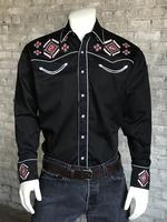 Rockmount Ranch Wear Men's Vintage Western Shirt: A A Native Embroidery