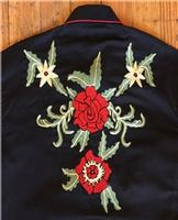 Rockmount Ranch Wear Men's Vintage Western Shirt: Floral Embroidery