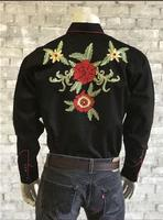 Rockmount Ranch Wear Men's Vintage Western Shirt: Floral Embroidery 2X
