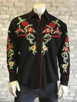 Rockmount Ranch Wear Men's Vintage Western Shirt: A Floral Embroidery S-XL