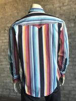 Rockmount Ranch Wear Men's Western Shirt: Print Serape Stripes 2X Backordered