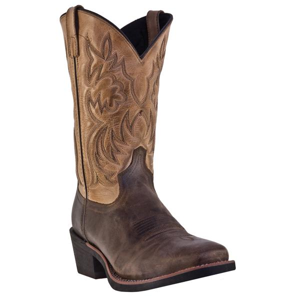 Men's Dan Post Boots Laredo Work: Breakout Tan Square Toe D, EW 7-12, 13