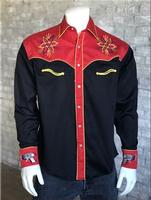 Rockmount Ranch Wear Men's Vintage Western Shirt: Fancy Back To The Future Ray Gun Black