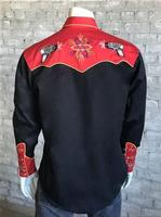 Rockmount Ranch Wear Men's Vintage Western Shirt: Fancy Back To The Future Ray Gun Black S-XL