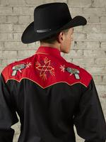 Rockmount Ranch Wear Men's Vintage Western Shirt: Fancy Back To The Future Ray Gun Black 2X