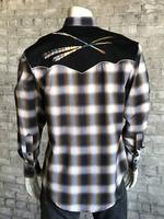 B Rockmount Ranch Wear Men's Vintage Western Shirt: Follow Your Arrow Plaid 2X Backordered