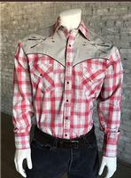Rockmount Ranch Wear Men's Vintage Western Shirt: A Follow Your Arrow Red  S-XL