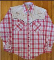 Rockmount Ranch Wear Men's Vintage Western Shirt: Follow Your Arrow Red  2X