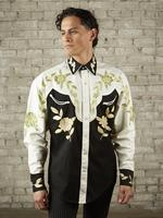 B Rockmount Ranch Wear Men's Vintage Western Shirt: Floral Two Tone 2X Backorder