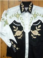 Rockmount Ranch Wear Men's Vintage Western Shirt: A Floral Two Tone S-XL
