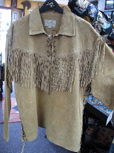 Scully Men S Leather Shirt Casual Suede Fringe Trapper