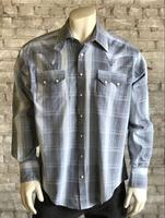 Rockmount Ranch Wear Men's Western Shirt: A Stripe Cotton Hombre Blue 2X and Talls