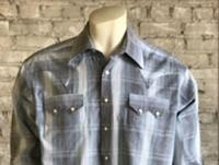 Rockmount Ranch Wear Men's Western Shirt: A Stripe Cotton Hombre Blue S-XL