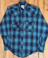 Rockmount Ranch Wear Men's Western Shirt: A Shadow Plaid Green S-XL