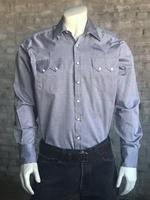 Rockmount Ranch Wear Men's Western Shirt: Dress Shirt Herringbone Shirt Black and White Backordered