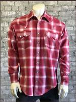 Rockmount Ranch Wear Men's Western Shirt: A Shadow Plaid Red S-XL