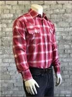 Rockmount Ranch Wear Men's Western Shirt: A Shadow Plaid Red 2XL-3XL, Tall Back Ordered
