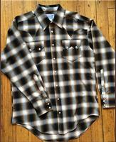Rockmount Ranch Wear Men's Western Shirt: A Shadow Plaid Brown 2XL-3XL, Tall