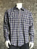 Rockmount Ranch Wear Men's Western Shirt: A Plaid Blue & Brown 2X