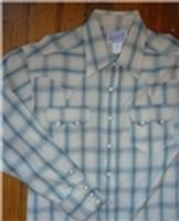 Rockmount Ranch Wear Men's Western Shirt: A Plaid Cotton Turquoise/Brown XL SALE