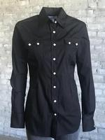 Rockmount Ranch Wear Ladies' Western Shirt: Cotton Blend Black 2XL