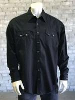 Rockmount Ranch Wear Men's Western Shirt: Dress Shirt Pima Cotton Black Talls 2X-4X Backordered