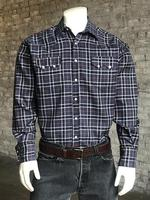 Rockmount Ranch Wear Men's Western Shirt: A Plaid Check Navy