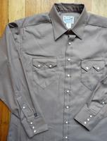 Rockmount Ranch Wear Men's Western Shirt: Dress Shirt Pima Cotton Taupe 2X
