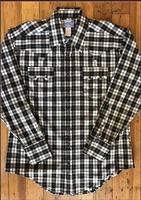 Rockmount Ranch Wear Men's Western Shirt: A Shadow Plaid Black White S-XL