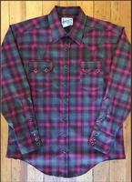 Rockmount Ranch Wear Men's Western Shirt: A Shadow Plaid Raspberry Grey S-XL