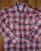 Rockmount Ranch Wear Men's Western Shirt: A Shadow Plaid Red Cotton 2XL, Talls