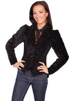 Scully Ladies' Old West Jacket: Wahmaker Classic Embossed Velvet Black