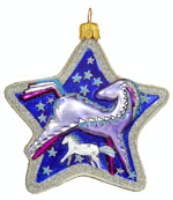 Artistry of Poland Ornament: Blue Horse