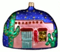 ZSold Artistry of Poland Ornament: Southwest Santa Stop By Here! SOLD OUT
