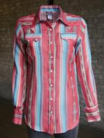 Rockmount Ranch Wear Ladies' Western Shirt: Print Serape Stripe