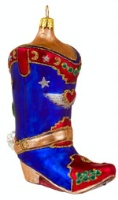 Artistry of Poland Ornament: Cowboy Boot in Blue