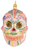 ZSold Artistry of Poland Ornament: Day of the Dead - Calavera, Sugar Skull SOLD