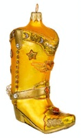 Artistry of Poland Ornament: Cowboy Boot in Gold